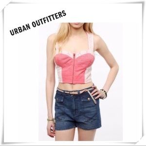 Urban Outfitters Pins and Needles Lace Bustier Red